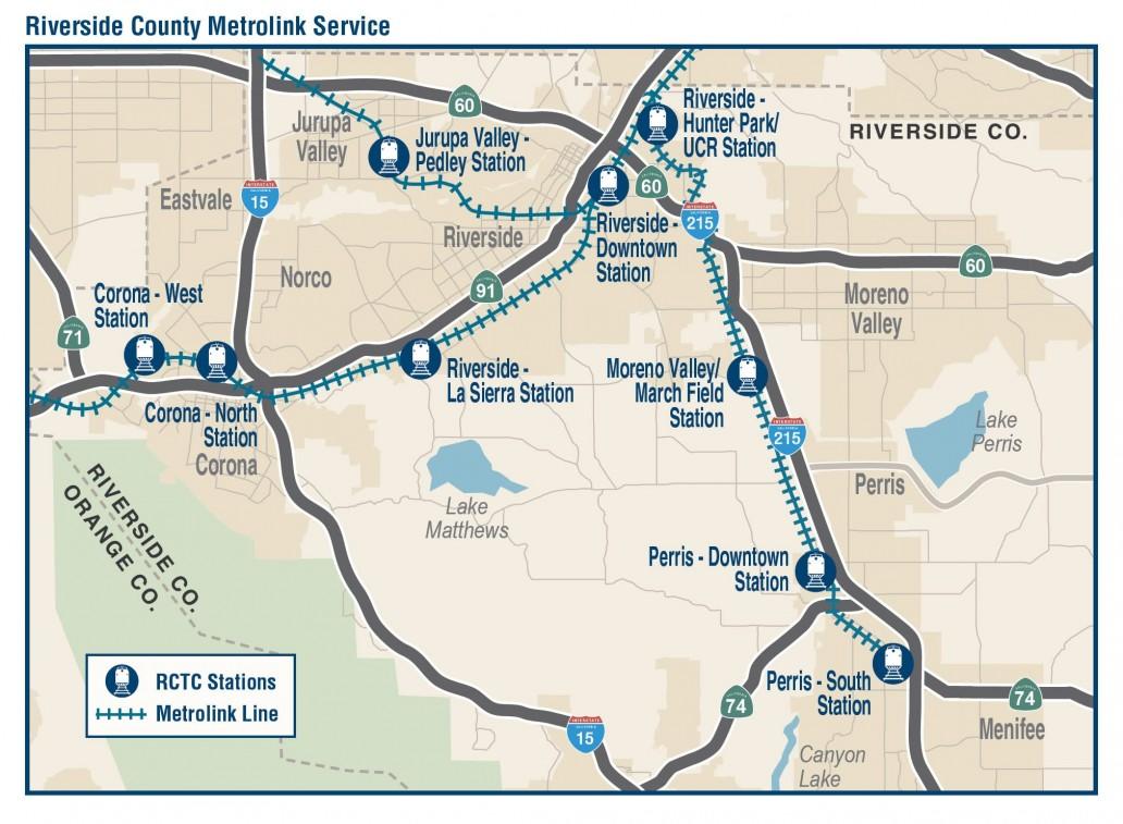 RCTC Riverside County Metrolink Service 2017