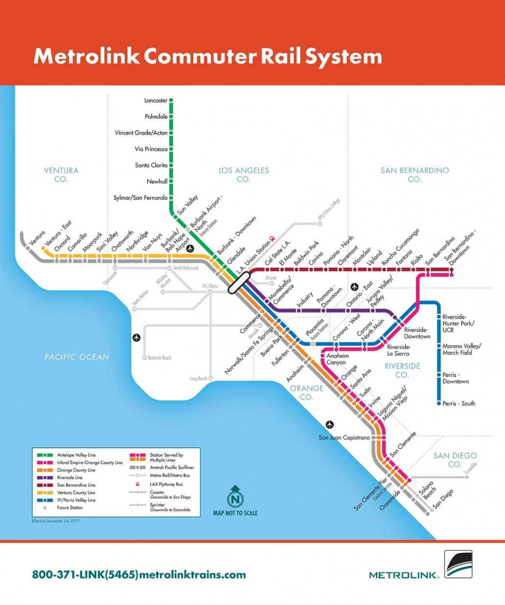 RCTC Metrolink System Map
