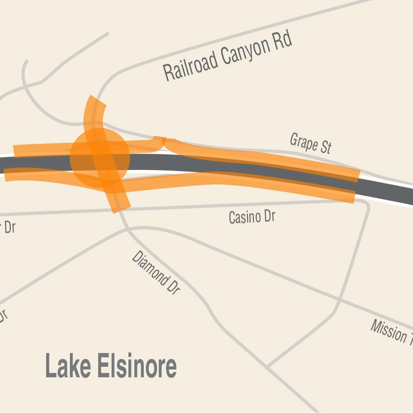 RCTC I15/Railroad Canyon Interchange Project Map Graphic