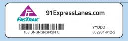 Photos of 6c fastrak transponder sticker
